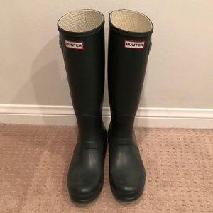 Dark Green Tall Hunter Boots (WMS 10)